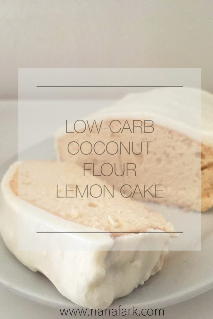 Low-carb, Keto friendly Coconut flour Lemon Cake